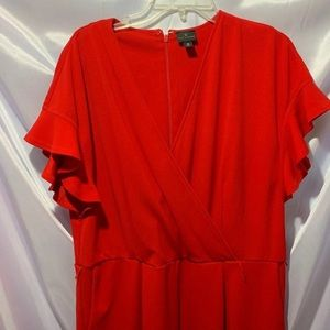 NWOT Bright Red Jumpsuit